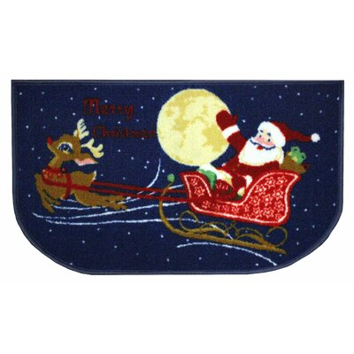 Reindeer and Santa Area Rug Rug Size: Slice 16 x 26