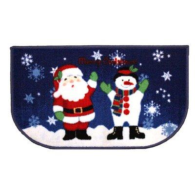Christmas Snowman Kitchen Mat Mat Size: Slice 16 x 26
