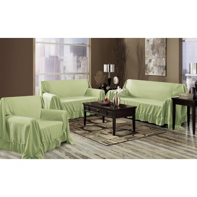 Venice 3 Piece Furniture Throw Set Color: Sage