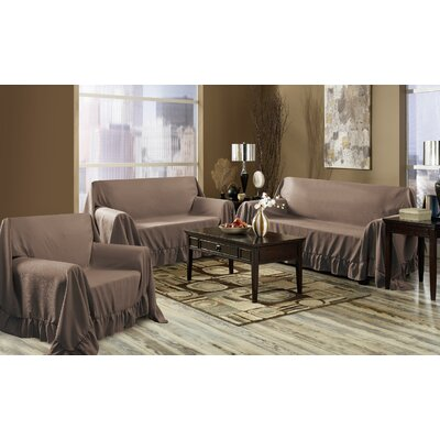 Venice 3 Piece Furniture Throw Set Color: Chocolate