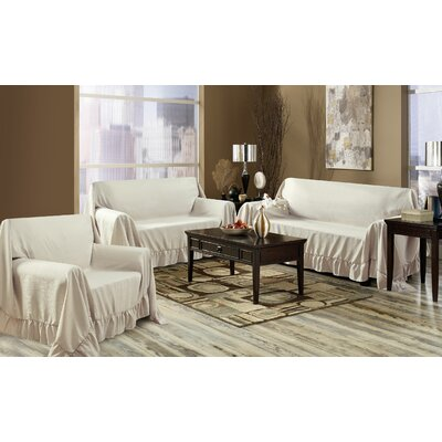 Venice 3 Piece Furniture Throw Set Color: Taupe