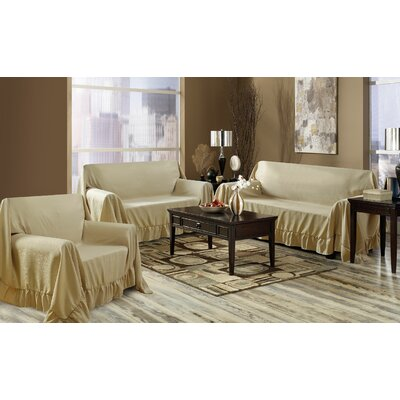 Venice 3 Piece Furniture Throw Set Color: Gold