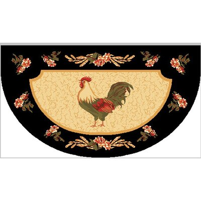 Rooster Mat Rug Size: Wedge 1'6