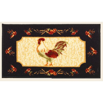 Rooster Mat Rug Size: 18 x 34