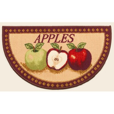 Mixed Apple Mat Rug Size: Wedge 16 x 26