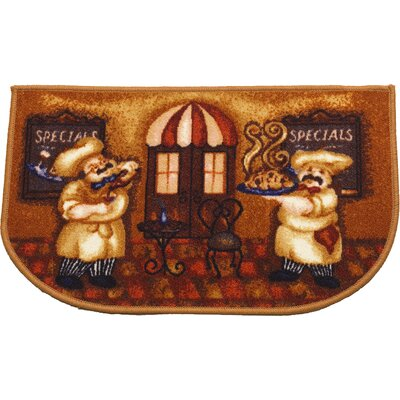 Goodall Chef Mat Rug Size: Wedge 16 x 26