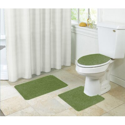 Layla Bath Rug Set Color: Sage