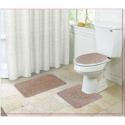 Layla Bath Rug Set Color: Light Brown
