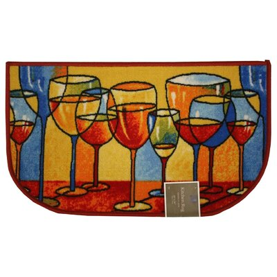 Mandie Kitchen Mat Mat Size: Semi-Circle 15 x 25