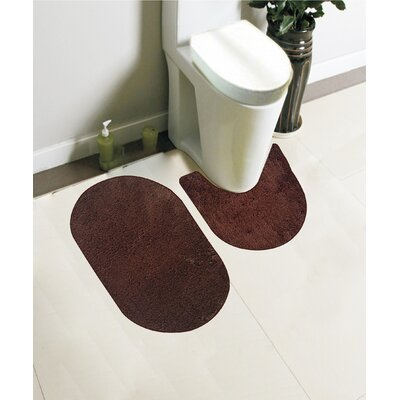 Taylor 2 Piece Bath Rug Set Color: Chocolate