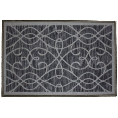 Normandy Gray Area Rug Rug Size: 18 x 26