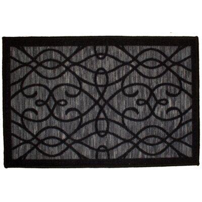 Normandy Black Area Rug Rug Size: 18 x 26