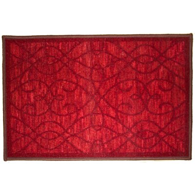 Normandy Burgundy Area Rug Rug Size: 5 x 7