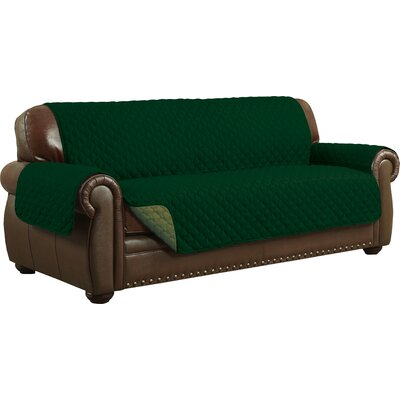 Sofa Slipcover Upholstery: Sage/Hunter Green