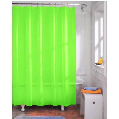 Vinyl Shower Curtain Liner Color: Neon Lime