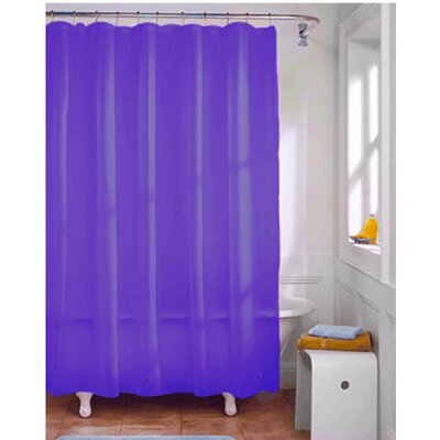 Vinyl Shower Curtain Liner Color: Neon Purple