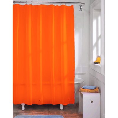 Vinyl Shower Curtain Liner Color: Neon Orange