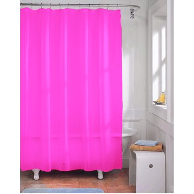 Vinyl Shower Curtain Liner Color: Neon Fuschia