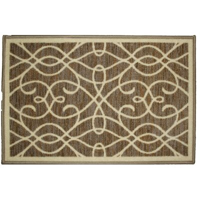 Normandy Beige Area Rug Rug Size: 18 x 26