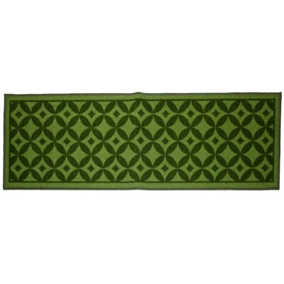 Bordeaux Green Area Rug Rug Size: 18 x 26