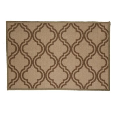Royal Beige Area Rug Rug Size: Runner 18 x 5