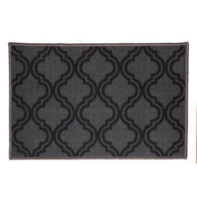 Royal Black Area Rug Rug Size: 5 x 7