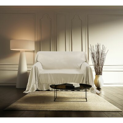 Venice Furniture Throw Chair Color: Ivory