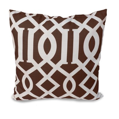 Tori Throw Pillow Color: Chocolate