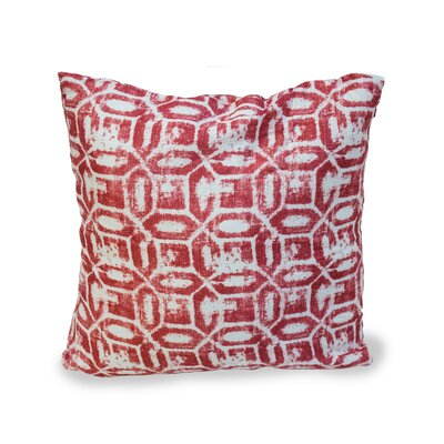Emma Throw Pillow Color: Burgundy