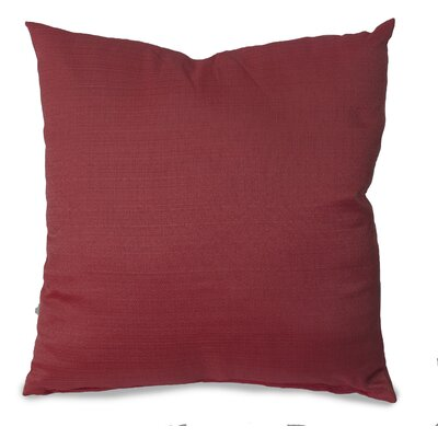 Parker Throw Pillow Color: Burgundy