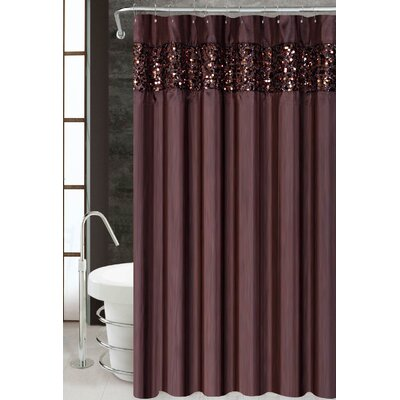 Vegas Shower Curtain Color: Chocolate
