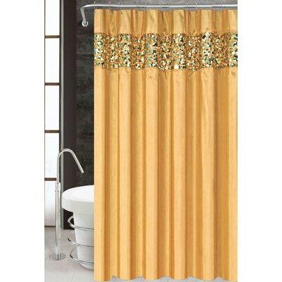 Vegas Shower Curtain Color: Gold
