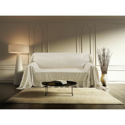 Venice Furniture Throw Love Seat Color: Ivory