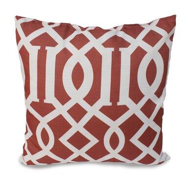 Tori Throw Pillow Color: Terracotta