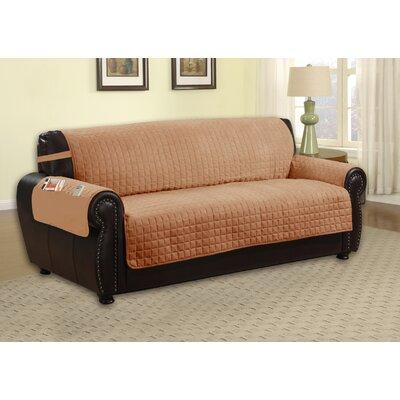 Microfiber Sofa Slipcover Upholstery: Camel