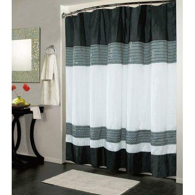Ibiza Shower Curtain Color: Black / White
