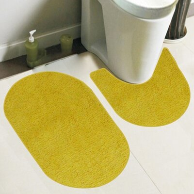 Taylor 2 Piece Bath Rug Set Color: Yellow