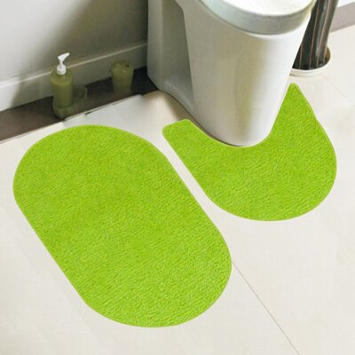 Taylor 2 Piece Bath Rug Set Color: Lime
