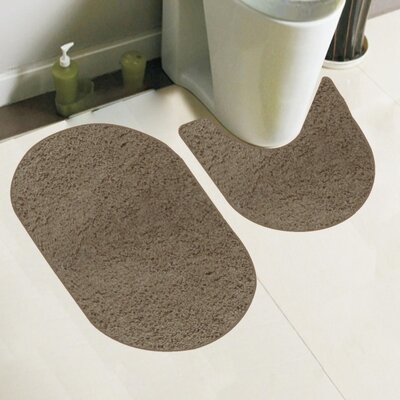 Taylor 2 Piece Bath Rug Set Color: Mocha