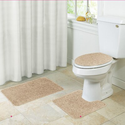 Layla Bath Rug Set Color: Gold