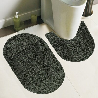 Taylor 2 Piece Bath Rug Set Color: Olive