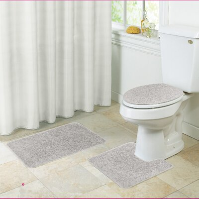 Layla Bath Rug Set Color: Ivory
