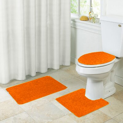Layla Bath Rug Set Color: Orange