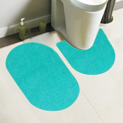 Taylor 2 Piece Bath Rug Set Color: Turquoise