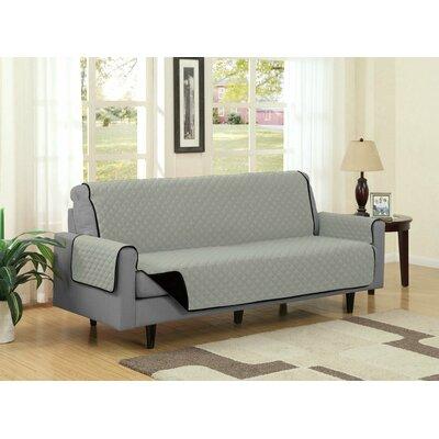 Sofa Slipcover Upholstery: Black/Gray