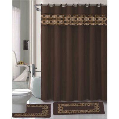 Gabrielle 15 Piece Shower Curtain Set