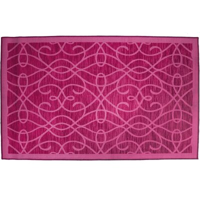 Normandy Fuchsia Area Rug Rug Size: Runner 18 x 5