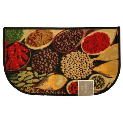 Spice Kitchen Mat Mat Size: Semi-Circle 16 x 26