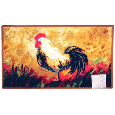 Rooster Kitchen Mat Rug Size: 1'6