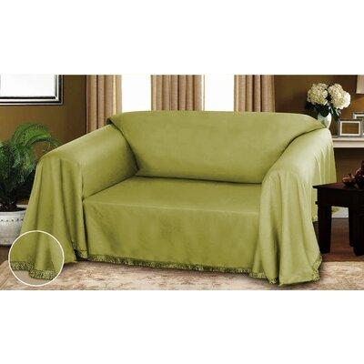 Dixie Dobby Weave Furniture Throw Sage Size: 70 x 90